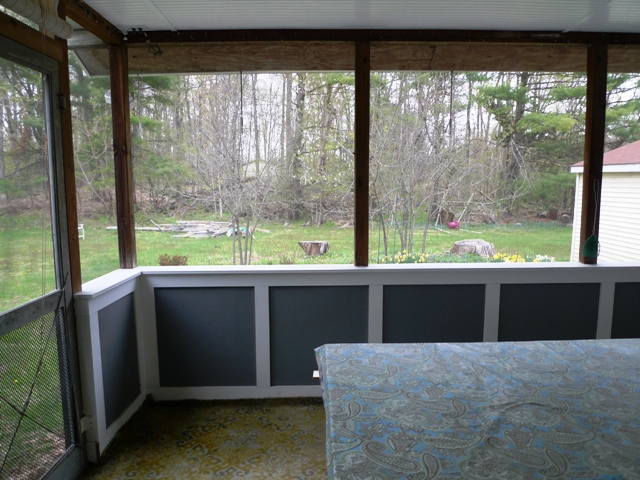 Large enclosed porch
