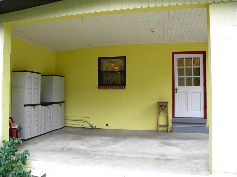 Carport - Door to Kitchen