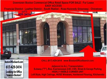 Commercial Office Space Retail Space For Sale, Boston, MA 02111