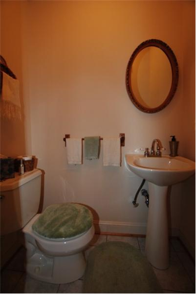 First floor powder room
