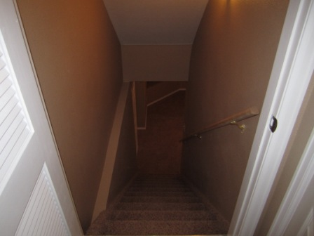The basement stairs