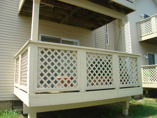 Deck of rear of home