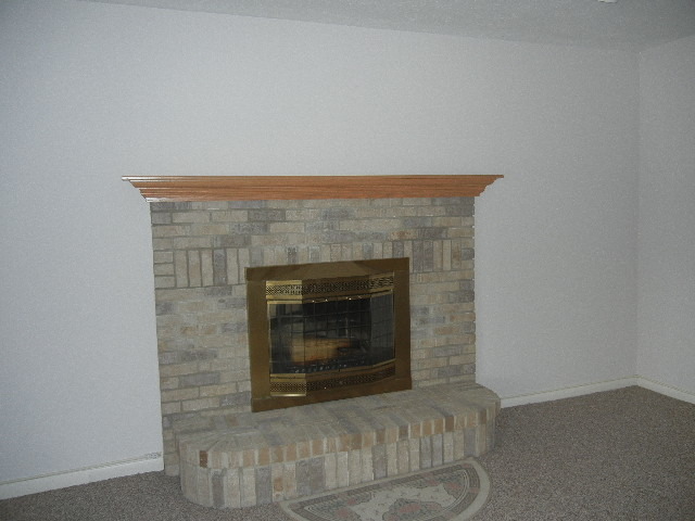 Beautiful fireplace in the family room