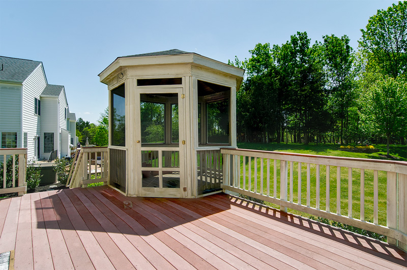 marvelous gazebo built in deck