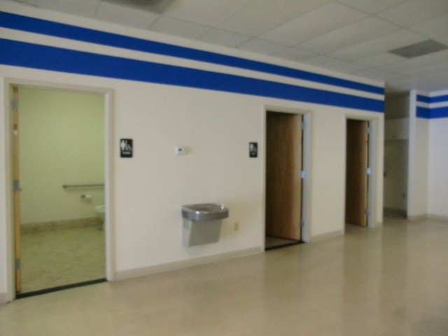 Restrooms (ADA), utility room, kitchen