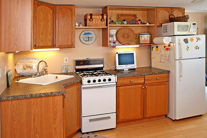 Kitchen with ample storage and counterspace