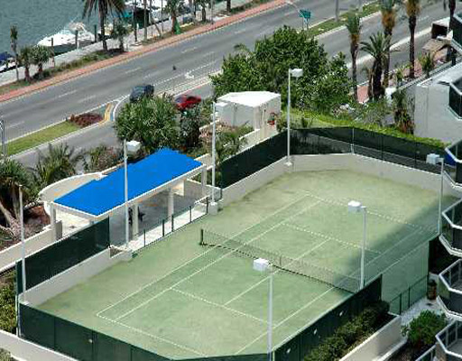 Blue & Green Diamond- tennis court